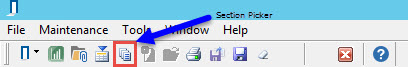 Project toolbar; shows location of Section Picker icon.